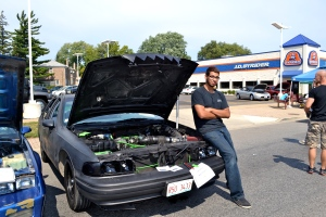 Eric Guardado from Morton College of Automotive Technology shows off his 1994 Chevrolet Caprice. He bought this car for $500, and this is what he presents after investing $5,000 worth of work on the original.