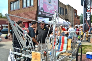 Richard Caspers explains his 2013 Levercoaster, a human-powered vehicle.
