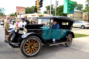Paul Heffernan and his six-gage 1916 Hupmobile 4 Door Touring.