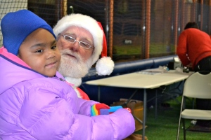 Berwyn girl telling Santa what she wants for Christmas