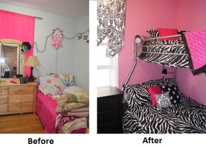 Liliana's and Abagail's room makeover.